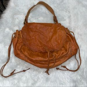 Lucky Brand Sweet Scallop Whiskey leather Hobo